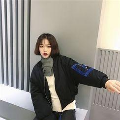 Eva Fashion - Padded Bomber Jacket