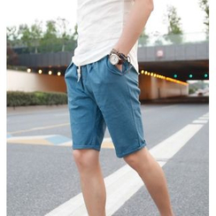 SICRIT - Plain Linen Cotton Shorts