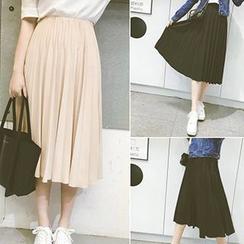 YOSH - Pleated Midi Skirt
