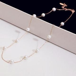 Love Generation - Faux-Pearl-Trim Necklace