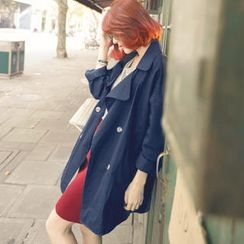 Tokyo Fashion - Double-Breasted Trench Coat