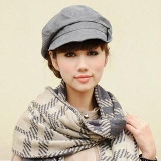 Thantrue - Buttoned Newsboy Hat