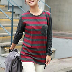 CLICK - Stripe Long-Sleeved T-Shirt