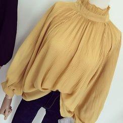 Honeydew - 气球袖高领衬衫