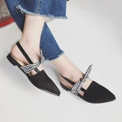 SouthBay Shoes - Bow Pointed Flats