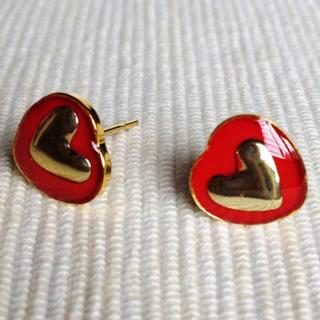 MyLittleThing - Resin Heart Earrings (Red)