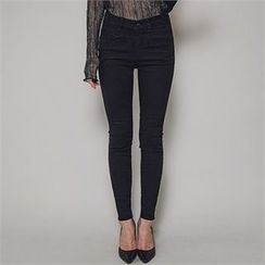 ERANZI - High-Waist Skinny Jeans