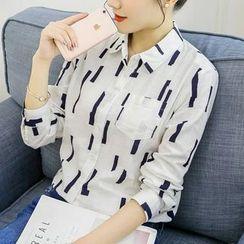 Tangi - Printed Long-Sleeve Shirt
