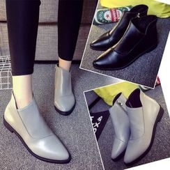 Laceuplux - Side Zip Ankle Boots