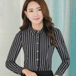 Eferu - Striped Chiffon Shirt