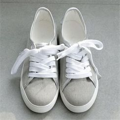 YOOM - Contrast-Trim Canvas Sneakers
