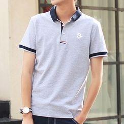 Really Point - Contrast Trim Short-Sleeve Polo Shirt