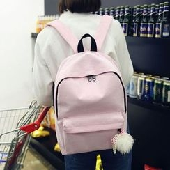 Seok - Pompom Corduroy Backpack