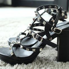 WHITE FOX - Studded Gladiator Sandals