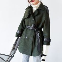 AC - Two-Tone Double-Breasted Coat