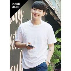 JOGUNSHOP - Round-Neck Short-Sleeve Colored T-Shirt