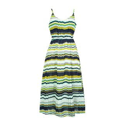 Flore - Striped Pleated Sundress