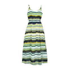 Flore - 条纹打褶裥沙滩裙