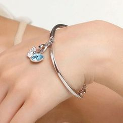 Mille - Crystal Swan Bangle