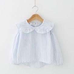Seashells Kids - Kids Peterpan Collar Striped Shirt