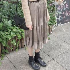 HL哈喽妹妹 - 打褶裥中裙