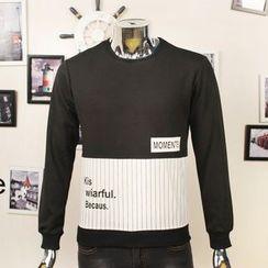 VILUNI - Letter Panel Sweatshirt