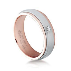Kenny & co. - Rose Gold Steel Diamond Ring
