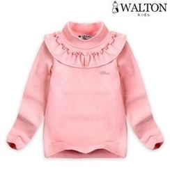 WALTON kids - Kids High-Neck Frilled Top