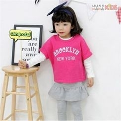 nanakids - Girls Set: Short-Sleeve T-Shirt + Long- Sleeve T-Shirt