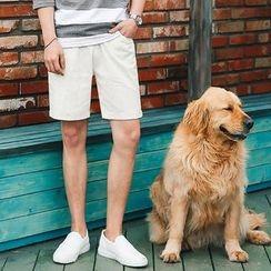 MEOSIDDA - Drawstring-Waist Linen Blend Shorts