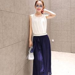 Romantica - Set: Sleeveless Top + Wide-Leg Pants