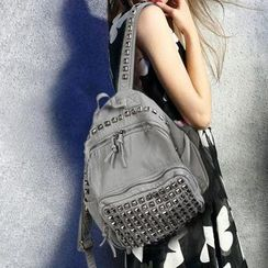 Manipelt - Faux-Leather Studded Backpack