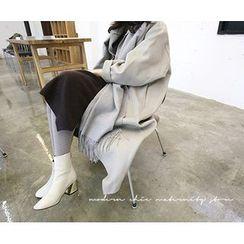 MARSHMALLOW - Wool Blend Long Coat