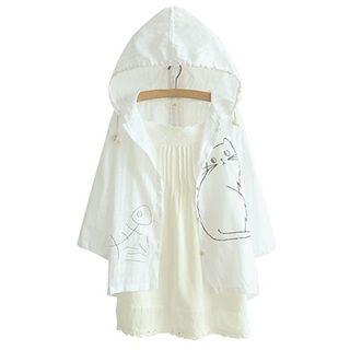Angel Love - Hooded Print Jacket
