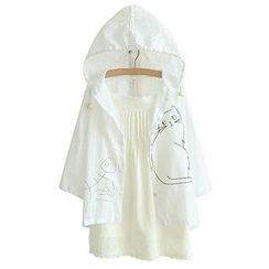 Angel Love - Hooded Print Jacket