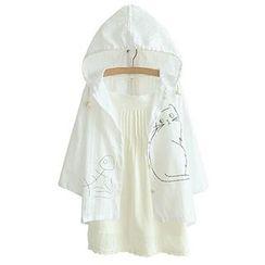 白金天使 - 連帽印花外套