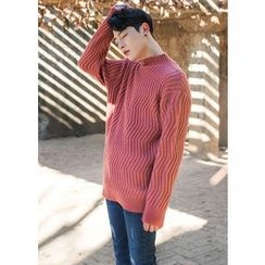 GERIO - Mock-Neck Patterned Sweater