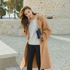 7th Mansion - Notch Lapel Long Woolen Coat