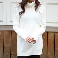 ERANZI - Turtle-Neck Knit Top