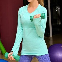 Lady Lily - Color Long Sleeve Training Top