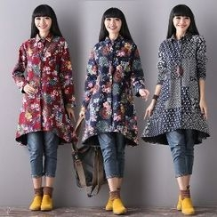 Splashmix - Printed Fleece-Lined Long Shirt