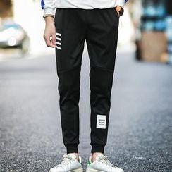 Hissse - Contrast Print Jogger Pants