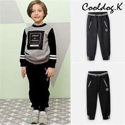 WALTON kids - Boys Contrast-Trim Lettering Sweatpants
