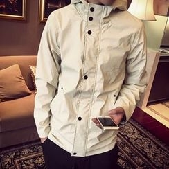 Troopers - Hooded Buttoned Jacket