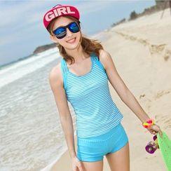 Rachel Swimwear - 條紋坦基尼泳衣