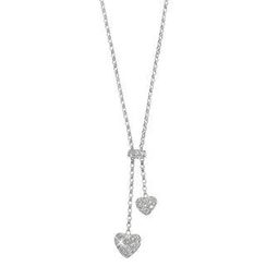 Keleo - 18K White Gold Necklace with Diamonds