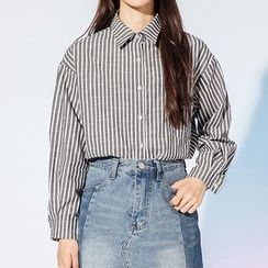 Heynew - Striped Long-Sleeve Shirt