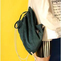 Bolso - Corduroy Drawstring Backpack