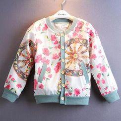 Kidora - Kids Print Buttoned Jacket