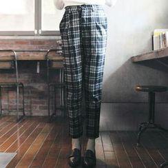 Tokyo Fashion - Slim-Fit Plaid Pants